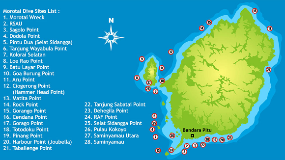 Diving Spots in Morotai Island