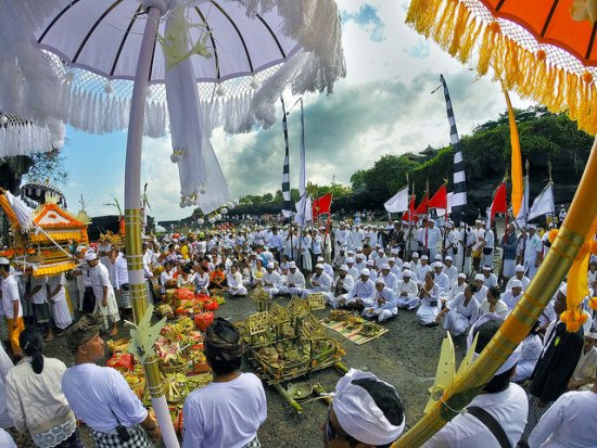 Festival held in Tanah Lot Bali