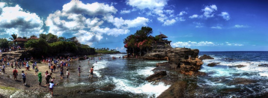 Tanah Lot Bali in the afternoon