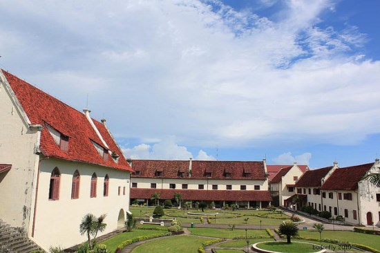 The view of Fort Rotterdam in Makassar