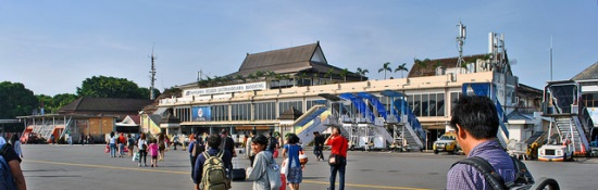 The view of Husein Sastranegara Airport Bandung