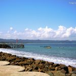 The view of Pangandaran Beach