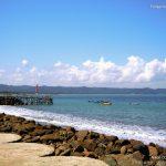 The view of Pangandaran Beach