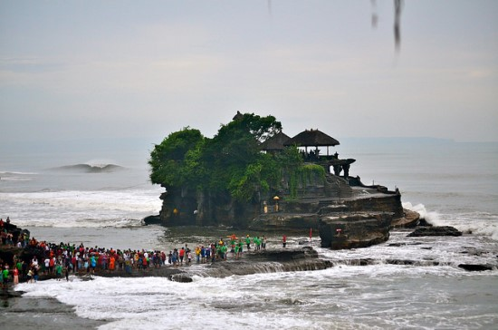 Trying to reach Tanah Lot Bali