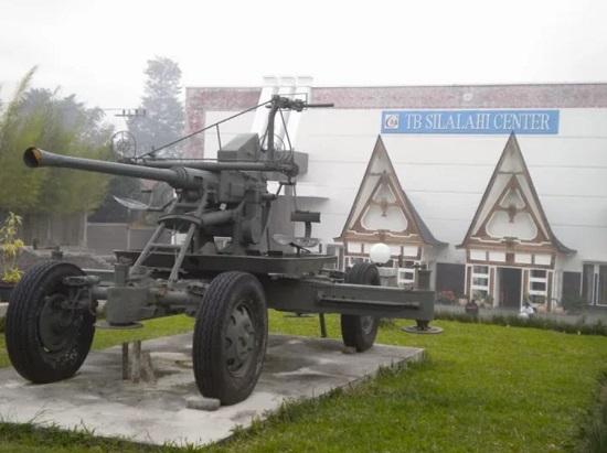 Bazooka in the front of Batak Museum TB Silalahi