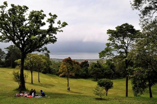 Bratan Lake from Bali Botanical Garden