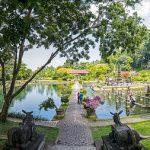 Broad garden of Tirta Gangga Bali