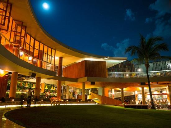Enjoying the night at Potato Head Beach Club Bali