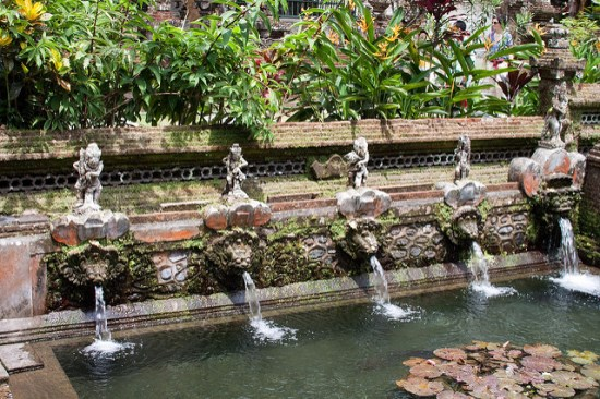 Holy springs of Gunung Kawi Temple