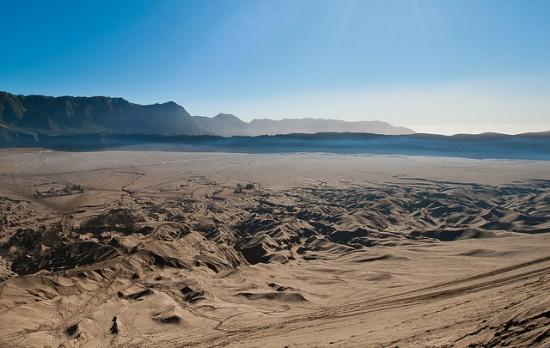 Mount Bromo Sand Dunes Panorama