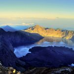 Mount Rinjani and the crater lake Lake Segara Anak
