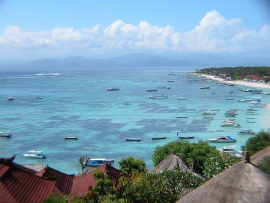 Nusa Lembongan view from Jungut Batu hills