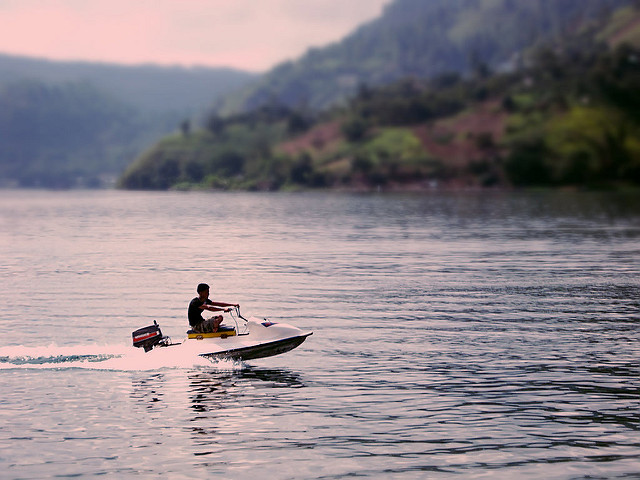 Ride on Jetski at Samosir Island Lake Toba