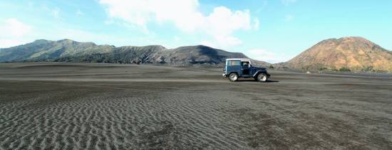 Take a jeep straight to the Bromo Caldera