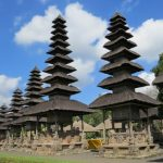 Temples with multiple stories of roof in Pura Taman Ayun
