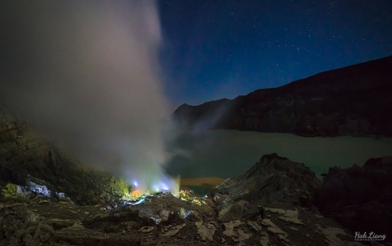 The blue fames at Kawah Ijen