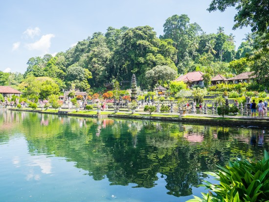 The huge pond of Tirta Gangga Bali