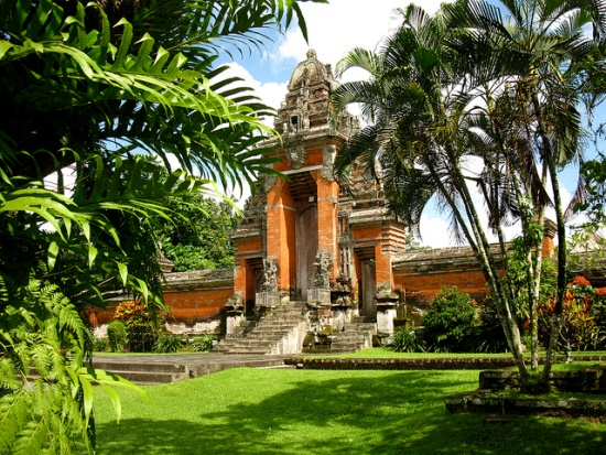 The main gate of Pura Taman Ayun Bali