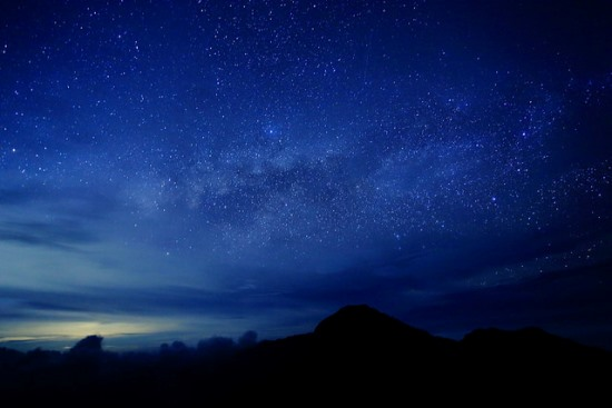 The night view at Mount Rinjani Lombok
