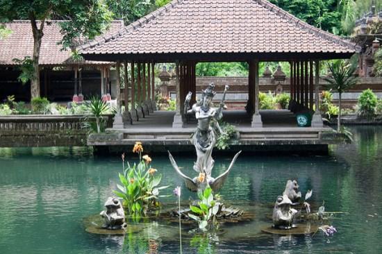 The pond at Gunung Kawi Temple