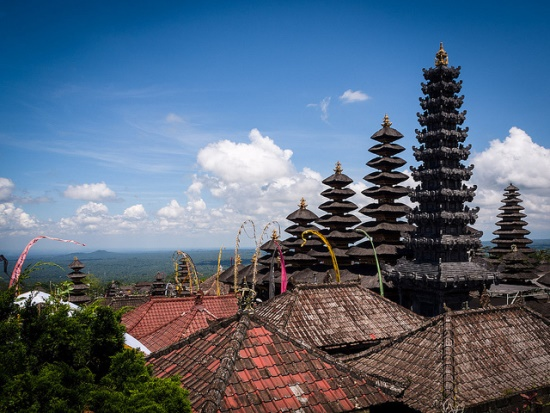 The view of Pura Besakih