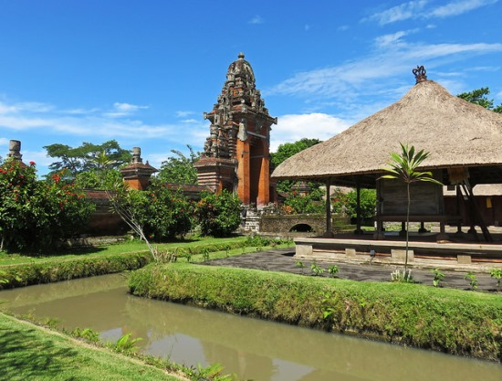 The water canal in Pura Taman Ayun Bali