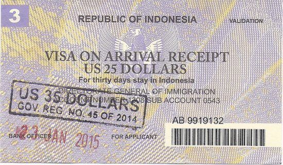 Travel Tips in Indonesia Visa on Arrival