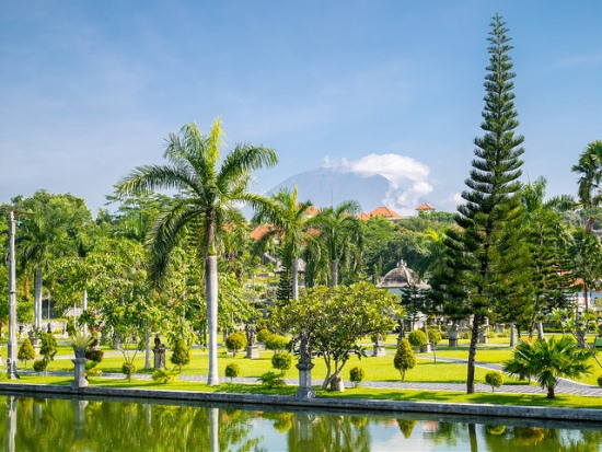 Ujung water palace garden